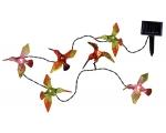 """Tuledekett """"Linnud"""" , 6 LED 1,75m, tulede vahe 35cm, päikesepaneeliga, IP44"""