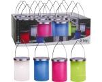 Värviline latern, 1 LED 12x22,5cm, päikesepaneeliga, IP44, riputatav