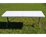 Laud kokkupandav 180x75cm hall/valge