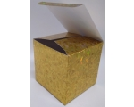 Kinkekarbid 10x10x10cm 3tk. kuldne 12/72