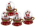 Klaaskuul lumega jõuluteemaline