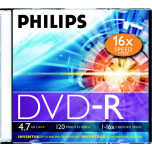 DVD-R Philips 4,7GB/16X slim karp EOL
