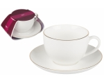 ORO coffee cup with saucer 250ml Bone porcelain