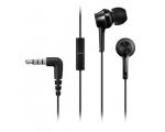 Nööpkõrvaklapid Panasonic mikrofoniga mustad