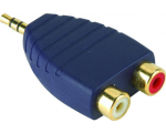 Premium SAP342 3,5mm otsik-2RCA otsik adapter
