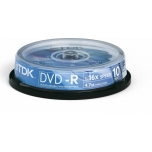 TDK DVD-R 4,7GB 16x 10-torn EOL
