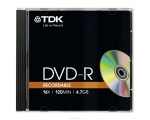 TDK DVD-R 4,7GB/16x Slim