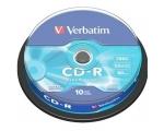 Verbatim CD-R 52x 80min / 700MB 10-ne tower Extra Protection