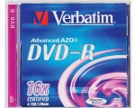 Verbatim DVD-R 4,7GB/16X, jewel karp EOL