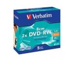 VERBATIM DVD-RW mini 1,4GB 2x slim