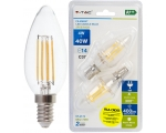 LED lamp 2-pack E14 / 4W / 400lm / 4W / Filament Candle