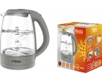 Kettle with glass jug 1.7L, 2200W, gray