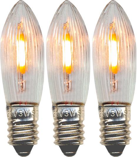 Varupirnid advendiküünlale 3tk, LED E10 universaalne, 14-55V